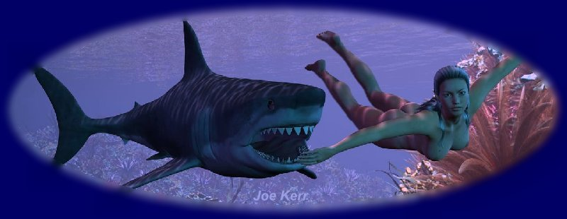 Shark in blue lagoon sex game